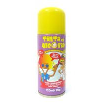 Spray Colorir Cabelos Tinta Da Alegria Carnaval Amarelo