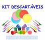 Kit Pratinhos-copinhos-garfinhos- 100un. Cada + 40 Pirulitos