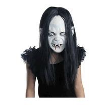 Máscara Fantasma Chamado Grudge Terror Shutter Latex Peruca