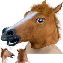 Máscara Cabeça Cavalo Cosplay Horse Chefão Latex No Brasil