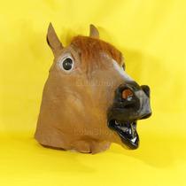Máscara Cabeça De Cavalo Marrom / Cosplay Latex