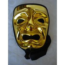 Mascara Teatro Dourada Carnaval Haloween Festa Capuz