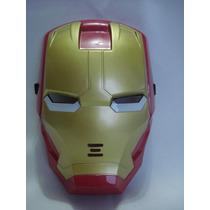 Mascara Homem De Ferro Festa Fantasia Iron Man Iluminada