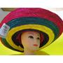 Chapeu Mexicano Colorido De 55cm De Largura E 20cm Altura