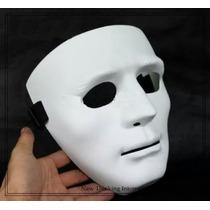 Máscara Sem Face Branca Dança Cosplay Festas Teatro Carnaval