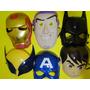 06 Mascaras Ben 10 Buzz Cap. America Volverine Batman Ferro
