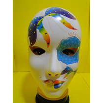 Mascara Multi Colorida Carnaval Veneza Azul