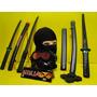 Ninja Dragão Touca Mascara Kitana Estrela Samurai Wakizashi