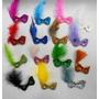Micro Mascaras Gliter Enfeite - 15 Pretas E 15 Brancas