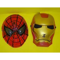 Conjunto 02 Mascara Homem Ferro & Homem Aranha