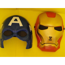 Conjunto 02 Mascara Homem De Ferro + Capitão America