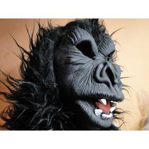 Mascara King Kong Macaco Gorila Peruca Com Alt30cm Cabeleira