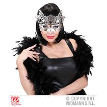 Masquerade Costume - Silver Veneza Máscara Carnaval Bola