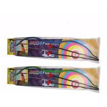 Arco Flecha Grande Arma Pressão Brinquedo 45cm Infantil