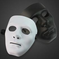 Máscara Jabbawockeez Dança Teatro Fantasia Branca Ou Preta