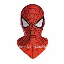 Mascara Homem Aranha Realista Tecido Pano Luxo Frete Gratis