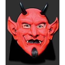 Máscara Diabo Capeta Sorriso - Carnaval Halloween Terror