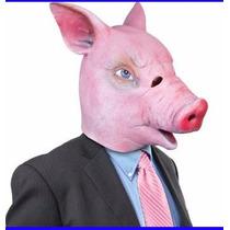 Máscara Fantasia Cabeça De Porco, Pig Latex - Temos Cavalo