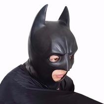Máscara Batman Latex Heroi Liga Da Justiça - Envio Imediato
