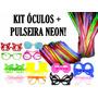 Kit C/ 40 Óculos + 100 Pulseira Neon - Balada, Casamento