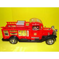 Brinquedo Caminhão Bombeiro Antigo Vintage Retro