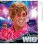 Elton John Peruca Costume - Adultos Homens Short Gengibre 70