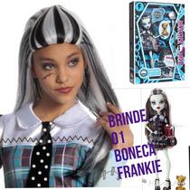 Peruca Monster High Original Frankie Stein Brinde Uma Boneca