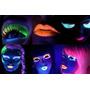 Tintas Neon Gel Para Cabelo E Baton Tudo P/ Luz Negra Festa
