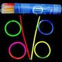 Pulseira De Neon Tubo Com 100 Unidades
