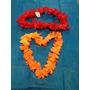 Kit C/ 100 Colar Havaiano Tecido Luxo - Flores Grandes