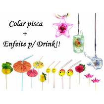 50 Colar Pisca + 60 Enfeite P/ Drink - 15 Anos,casamento