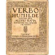 Verbo Humilde - Alípio Rama - 1ª Edição