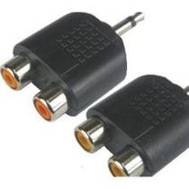 Kit Com 2 Unidades Adaptador Plug P2 Stereo/2 Jack Rca