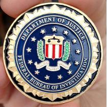 Moeda Fbi Estados Unidos Poker Card Guard Protetor De Cartas