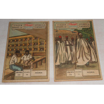 Álbum Estampas Eucalol Lote C/2 Nigéria 10 11 Série Dupla335