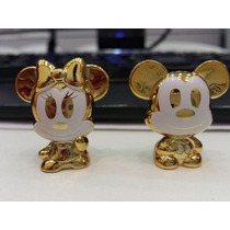 Gogos Disney Claro Par Mickey E Minnie Dourado