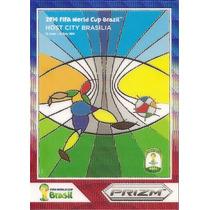 2014 Panini Prizm Host City Brasilia Card Refractor Colorido