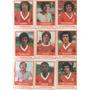Lote: Futebol Cards Ping Pong Internacional, 9 Figurinhas