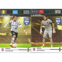 Fifa 365 Time Corinthians Adrenalyn 5 Cards Completo Panini
