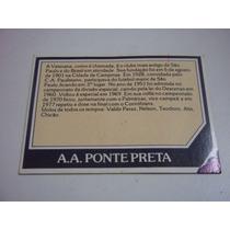 Cartão Controle Ponte Preta - Ping Pong Futebol Cards Nº 150