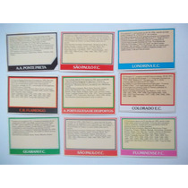 Ping Pong Futebol Cards Controle Em Branco Preço Por Unidade