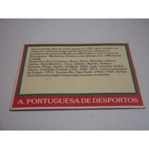 Cartão Controle Portuguesa - Ping Pong Futebol Cards - Nº 71
