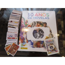 Álbum Capa Dura 50 Anos Novelas Globo + Todas As Figurinhas