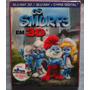 Blu-ray 3d E 2d Os Smurfs - Ed Colecionador - 2 Discos Novo