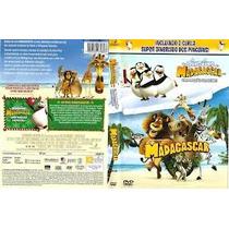 Dvd - Madagascar E Os Pinguins De Madagascar - Dreamworks