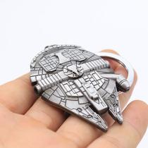 Chaveiro Star Wars Nave Millennium Falcon Em Metal Maciço