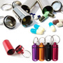 Chaveiro Pill Box Em Alumínio Porta Comprimidos Frete 10,00!