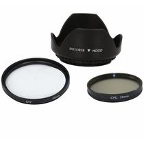 Filtro Polarizador Cpl + Uv + Parasol 49mm 52mm 55m 58mm 67m