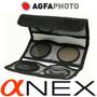 Agfa Kit 3 Filtros: Uv Cpl Polarizador Warm Sony Nex 49mm