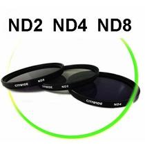 Lente Filtro Nd2 Nd4 Nd8 Nikon D5200 D5100 D90 D3200 D3100
